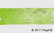 Physical Panoramic Map of Belambiry