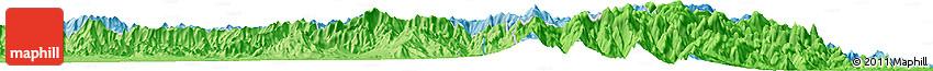 "Political Horizon Map of the Area around 24° 2' 59"" S, 46° 49' 30"" E"