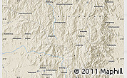 """Shaded Relief Map of the area around 24°2'59""""S,46°49'30""""E"""