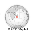 Outline Map of Ambalapaiso, rectangular outline