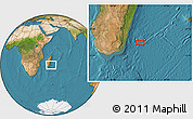 "Satellite Location Map of the area around 24°2'59""S,49°22'30""E"