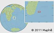 "Savanna Style Location Map of the area around 24°2'59""S,49°22'30""E"