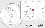 Blank Location Map of Salto del Guairá