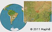 Satellite Location Map of Salto del Guairá