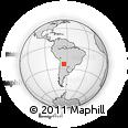 Outline Map of San Pedro, rectangular outline