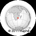Outline Map of Chokwe, rectangular outline