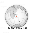 Outline Map of Ambondrombe, rectangular outline