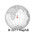 "Outline Map of the Area around 24° 32' 42"" S, 47° 40' 29"" E, rectangular outline"