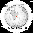 Outline Map of Apiaí, rectangular outline