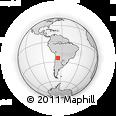 Outline Map of Incahuasi, rectangular outline