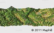 "Satellite Panoramic Map of the area around 25°22'6""N,100°22'30""E"