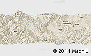 """Shaded Relief Panoramic Map of the area around 25°22'6""""N,100°22'30""""E"""