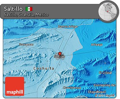 Free Political 3d Map Of Saltillo