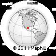 Outline Map of Saltillo, rectangular outline