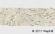 Shaded Relief Panoramic Map of Gaoxing