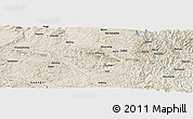 Shaded Relief Panoramic Map of Dabei