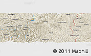 Shaded Relief Panoramic Map of Luyintang