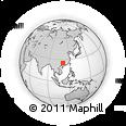 Outline Map of Guilin, rectangular outline