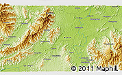 """Physical 3D Map of the area around 25°22'6""""N,111°25'30""""E"""