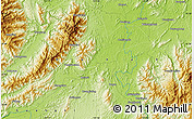 """Physical Map of the area around 25°22'6""""N,111°25'30""""E"""