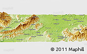 """Physical Panoramic Map of the area around 25°22'6""""N,111°25'30""""E"""