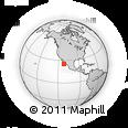 Outline Map of Baja California Sur, rectangular outline
