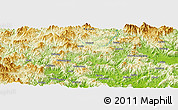 Physical Panoramic Map of Cuoyang