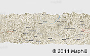 Shaded Relief Panoramic Map of Cuoyang
