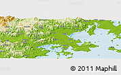 Physical Panoramic Map of Daping