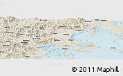 Shaded Relief Panoramic Map of Daping