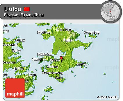 Physical 3D Map of Liulou