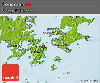 Physical 3D Map of Longqian