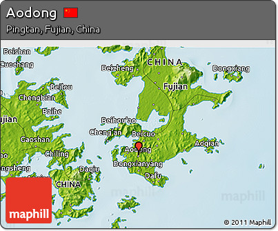 Physical 3D Map of Aodong