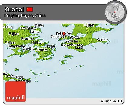 Physical Panoramic Map of Kuahai