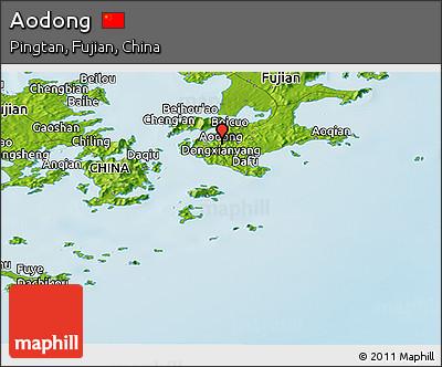 Physical Panoramic Map of Aodong