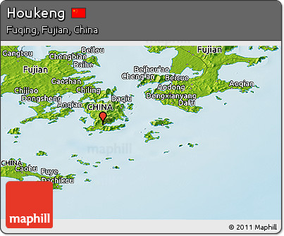 Physical Panoramic Map of Houkeng