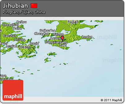 Physical Panoramic Map of Jihubian