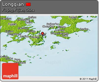 Physical Panoramic Map of Longqian