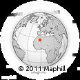 Outline Map of Reggane, rectangular outline