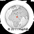 Outline Map of Kharga, rectangular outline