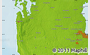 """Physical Map of the area around 25°22'6""""N,51°4'30""""E"""