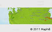 Physical Panoramic Map of Al Wusayl