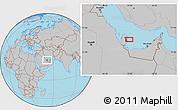 Gray Location Map of Doha