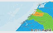 Political 3D Map of Umm al Qaywayn