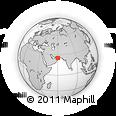 Outline Map of Chabahar, rectangular outline