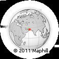 Outline Map of Gwadar, rectangular outline