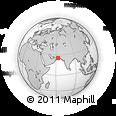 Outline Map of Pasni, rectangular outline