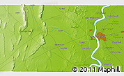 """Physical 3D Map of the area around 25°22'6""""N,68°4'29""""E"""