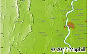 Physical Map of Hyderābād