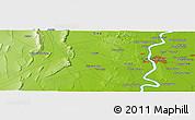 Physical Panoramic Map of Hyderābād